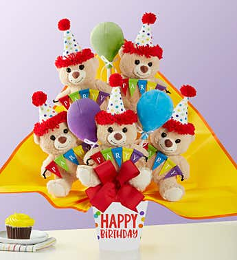Lotsa Love®  Happy Birthday Plush Bouquet