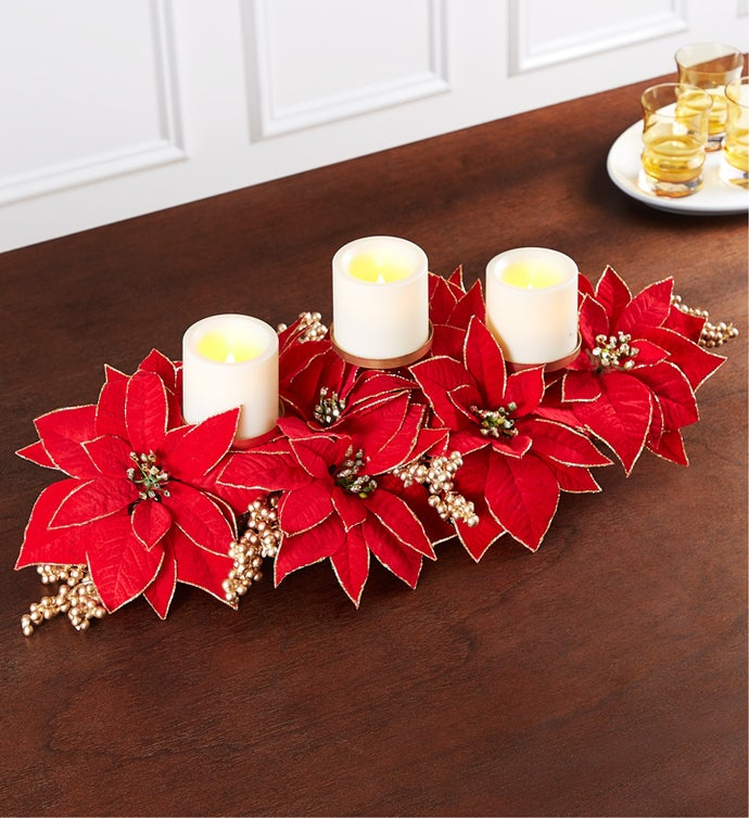 Shimmering Poinsettia Centerpiece
