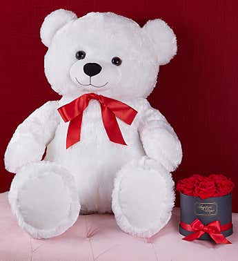 Lotsa Love® True Love Bear & Magnificent Roses®