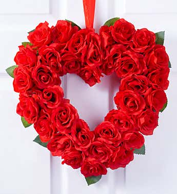 Keepsake Red Rose Heart Wreath-12