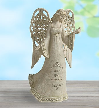 With You Always Angel Statue