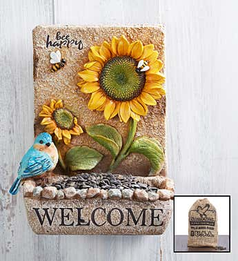Welcome Birdfeeder​ with Seed
