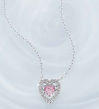 Swarovski ® Sparkle Pink Heart Necklace