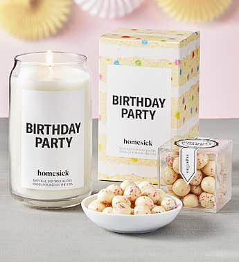 Birthday Party Candle by Homesick With Sugarfina Cake Bites