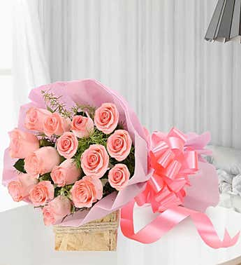 Blush Roses, 15 Stems