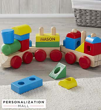 Personalized Melissa & Doug® Stacking Train