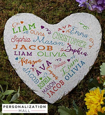 Personalized Close to Her Heart Garden Stone