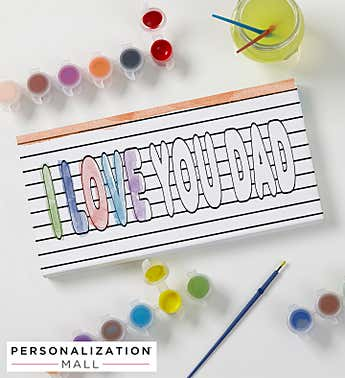 Paint It! DIY Personalized Coloring Canvas Print For Dad