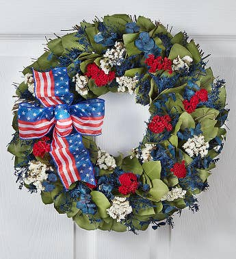 Preserved Red White and Beautiful Wreath - 16