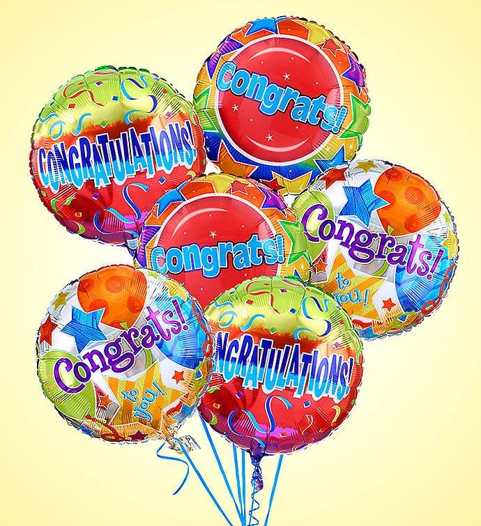 Air-Rangement® - Congratulations Mylar Balloons Half Dozen