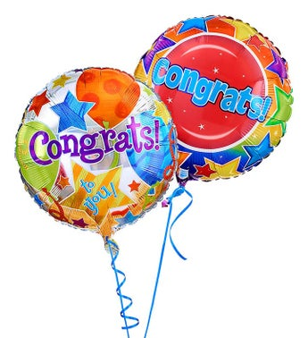 Two Mylar Balloons Congratulations