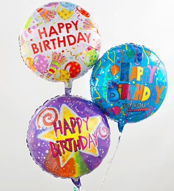 Three Mylar Balloons Congratulations