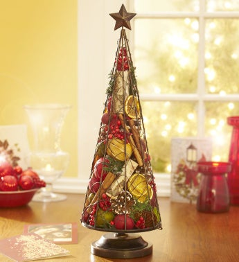 Metal Tree Filled with Traditions Potpourri