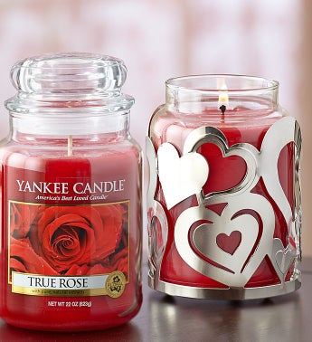 Yankee Candle® True Rose with Candle Holder
