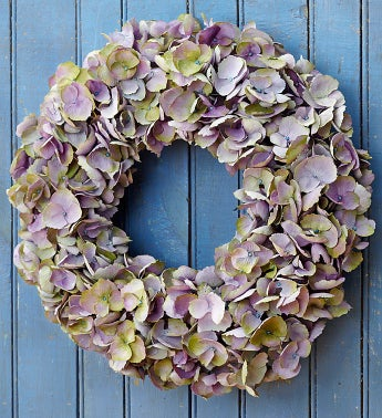Silk Purple Hydrangea Wreath - 16""
