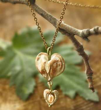 Bleeding Heart Drop Pendant Necklace