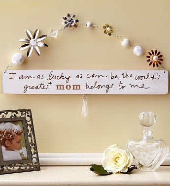 World's Greatest Mom Artisan Plaque