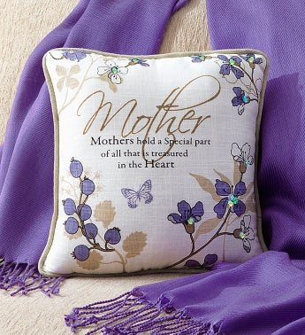 Mother Pillow and Pashmina Scarf Set