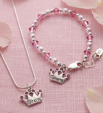 Princess Tiara Bracelet & Necklace