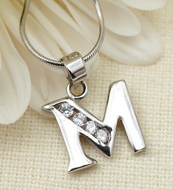 Women's Personalized Initial Pendant-18""
