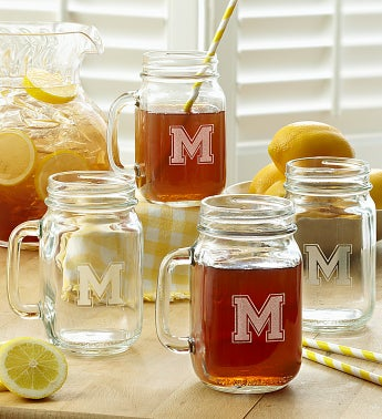 Personalized Mason Jars- Set of 4