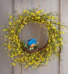 Blooming Buttercup Faux Wreath - 22""