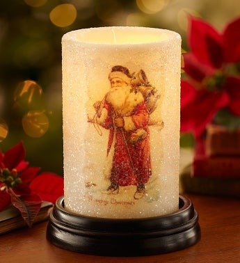 Vintage Santa Holiday Candle