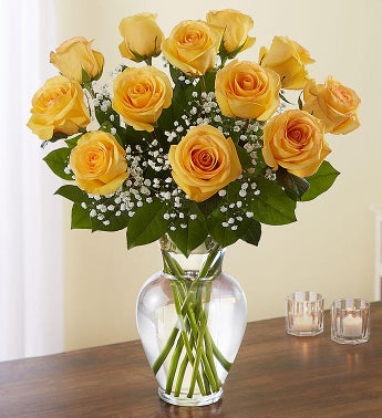 Rose elegance premium long stem yellow roses 1800flowers 90021 rose elegance premium long stem yellow roses mightylinksfo
