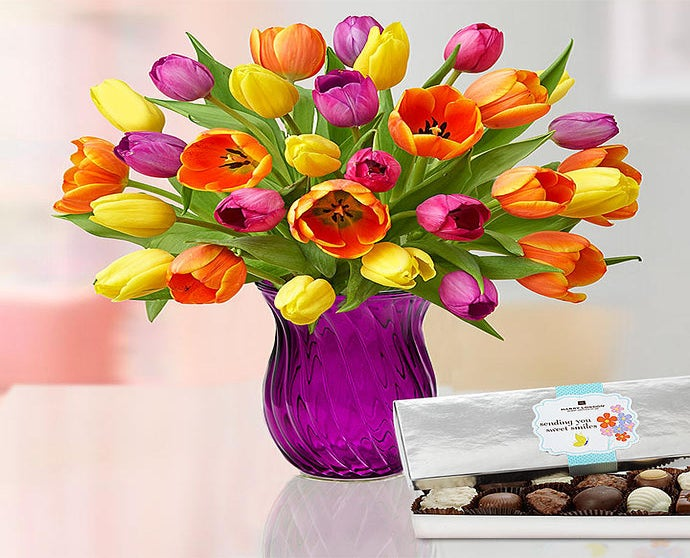 Mother's Day Radiant Tulips, 15-30 Stems