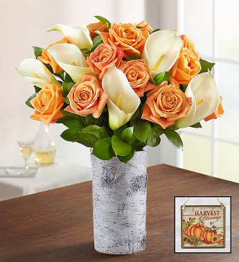 Autumn Rose  Calla Lily Bouquet