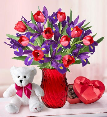 Bunches of Love Tulip  Iris Bouquet