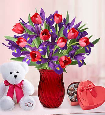 Bunches of Love Tulip & Iris Bouquet