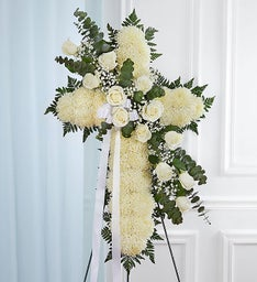Peace & Prayers™ Standing Cross- White