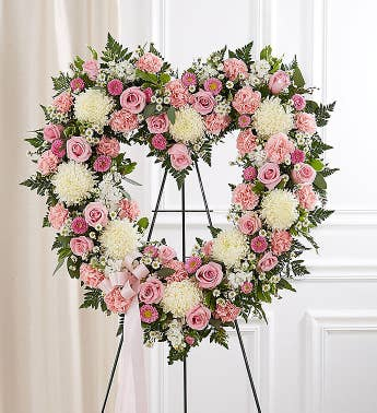 Always Remember™ Floral Heart Tribute- Pink