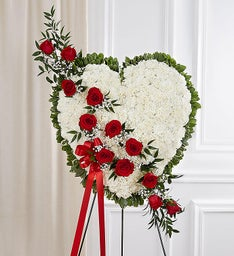 Always in My Heart Floral Heart - Red