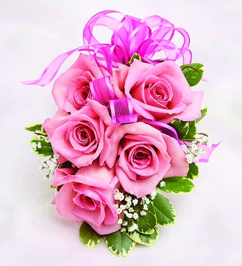 pink rose corsage from flowers, Natural flower