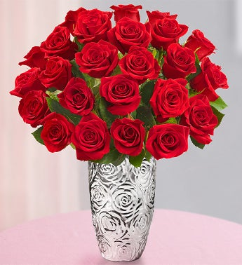 Romantic Red Roses, 24 Stems