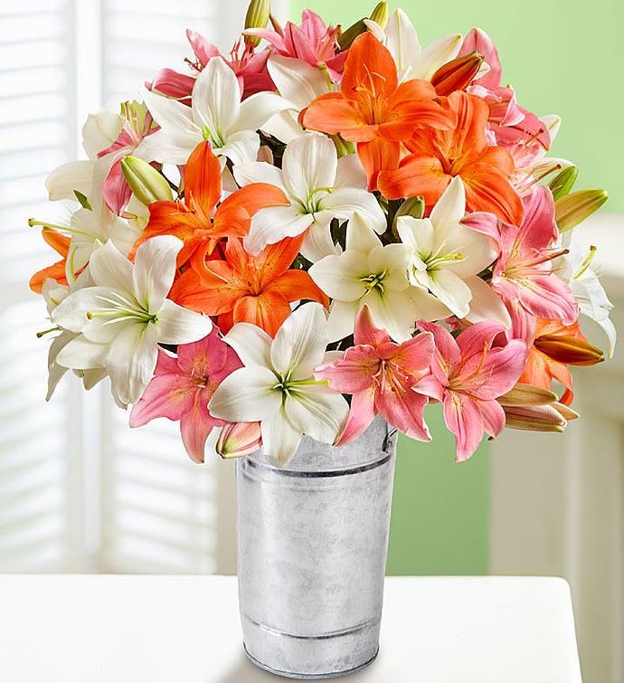 Vibrant Summer Lilies Bouquet