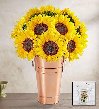 Sunflowers  Vase  Candle