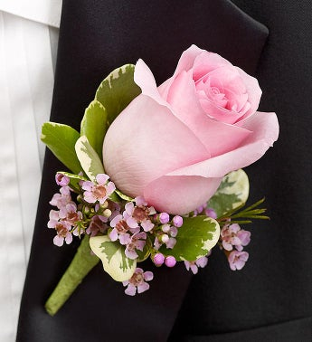 pink boutonniere from 1 800 flowers com 95342