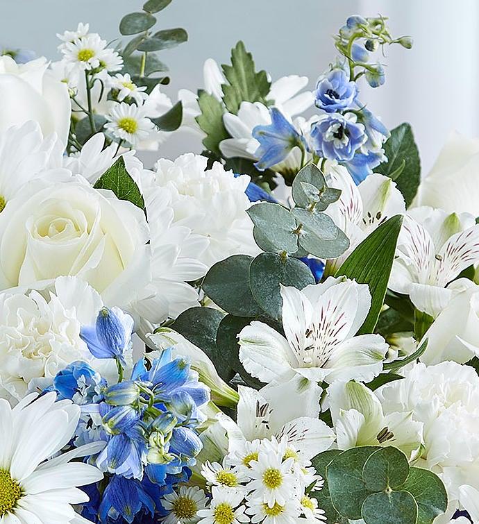 Cherished Memories Blue  White