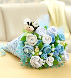 BaBEE 18 Piece Layette Bouquet - Blue or Pink