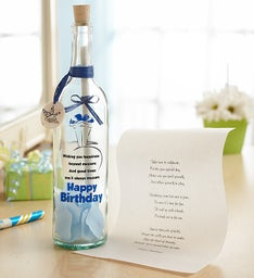Personalized Message in a Bottle® Birthday Wishes