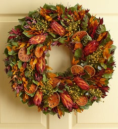 Preserved Orange Protea Wreath – 22""