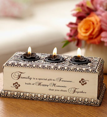 Family Triple Tealight Holder