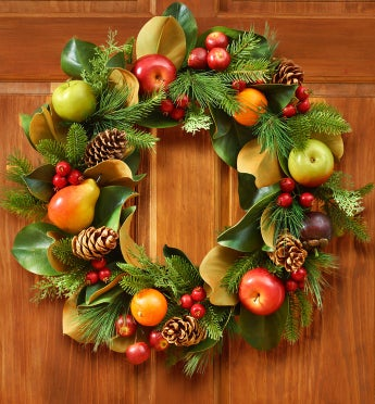 Faux Fruit & Foliage Wreath - 24""