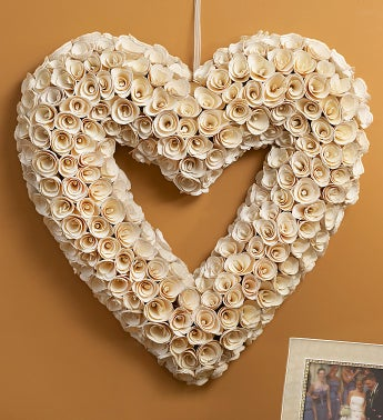 White Heart Rose Wreath