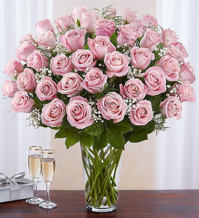 Ultimate Elegance Long Stem Pink Roses 1800flowers 98713