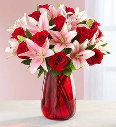 Romantic Rose & Lily + Free Vase