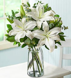 Graceful White Lily Bouquet